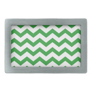 green chevron stripes rectangular belt buckles