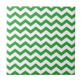 green chevron stripes tile