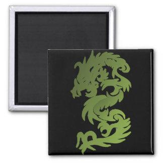 Green Chi Dragon Square Magnet