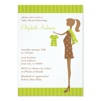 Green Chic Mom To Be Baby Shower Card