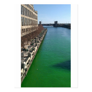 Green Chicago River Postcards