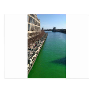 Green Chicago River Post Card