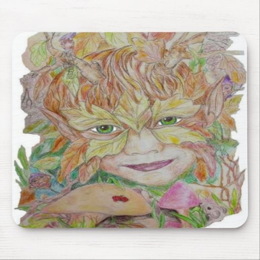 Green Child Mouse Pad