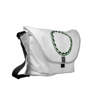 Green chili circle design messenger bags