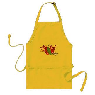 Green Chili Pepper Design Standard Apron