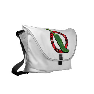 Green Chili Red Ring Graphic Image.png Courier Bag