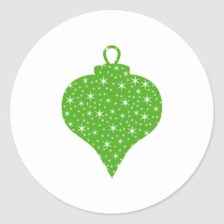 Green Christmas Bauble Design. Classic Round Sticker