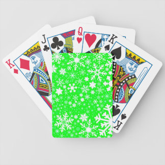 Green Christmas Blast Bicycle Playing Cards