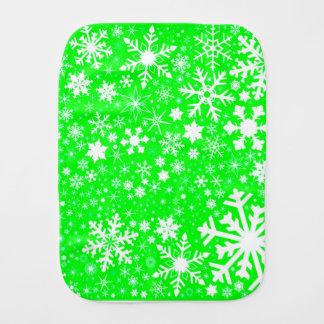 Green Christmas Blast Burp Cloth