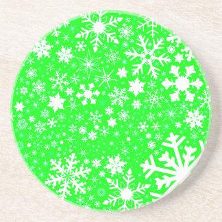 Green Christmas Blast Coaster