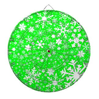 Green Christmas Blast Dartboard