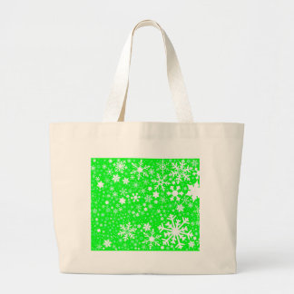 Green Christmas Blast Large Tote Bag