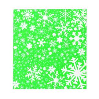 Green Christmas Blast Notepad