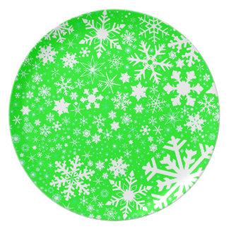 Green Christmas Blast Plate