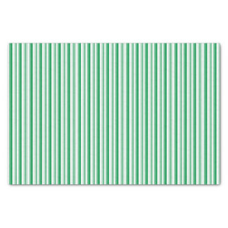 Green Christmas Candy Cane Striped Tissue Paper