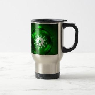 Green Christmas Decoration Ball Mug