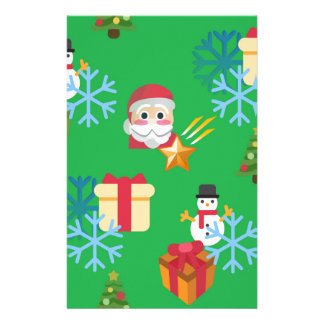 green christmas emoji stationery