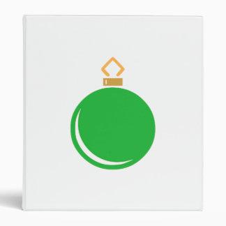 Green Christmas Ornament Vinyl Binder