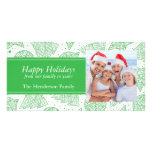 Green Christmas Pattern Holiday Photo Card