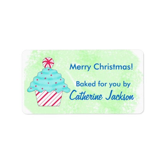 Green Christmas Peppermint Cupcake Food Gift