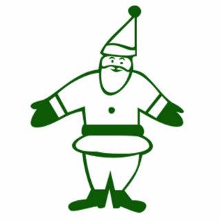 Green Christmas Santa Claus Acrylic Cut Outs