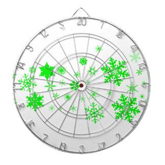 Green Christmas Snowflake Banner Dartboard