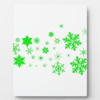 Green Christmas Snowflake Banner Plaque