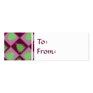 Green Christmas Tree Colorful Holiday Pattern Business Card