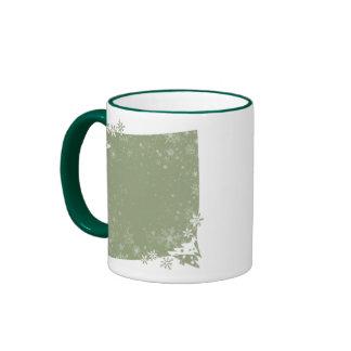 Green Christmas Tree Frame Mug