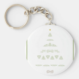 Green Christmas Tree Keychains