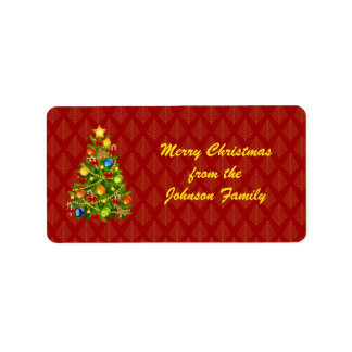 Green Christmas Tree Labels