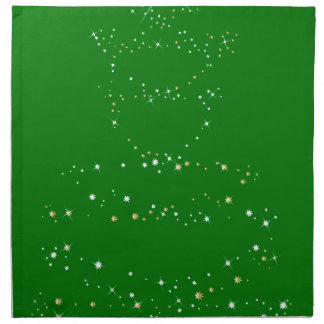 Green Christmas Tree Napkin