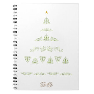 Green Christmas Tree Notebook