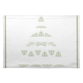 Green Christmas Tree Place Mats