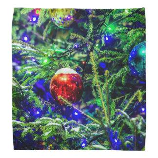 Green Christmas Tree Red Ball Bandannas