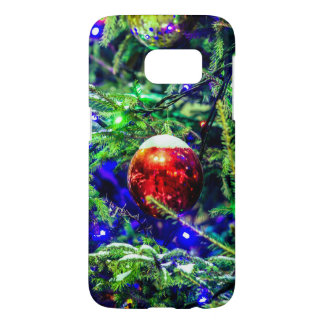 Green Christmas Tree Red Ball Samsung Galaxy S7 Case