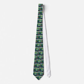 Green Christmas Tree Red Ball Tie
