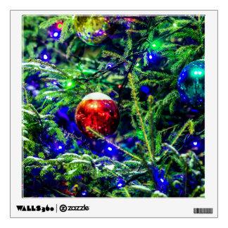 Green Christmas Tree Red Ball Wall Sticker