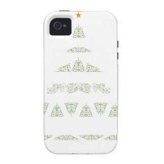 Green Christmas Tree Vibe iPhone 4 Case