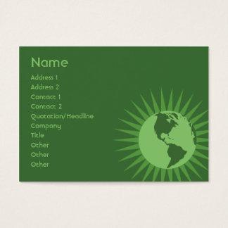 Green - Chubby Business Card
