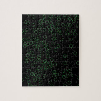 Green Circle Background Jigsaw Puzzle