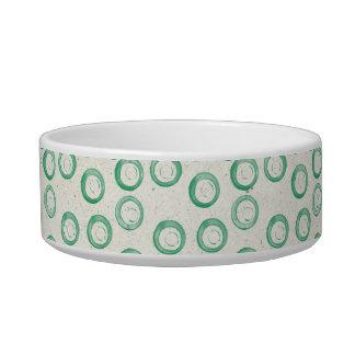 Green Circle Dog Dish