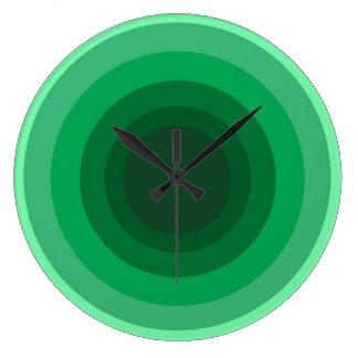 Green Circle Wall Clock