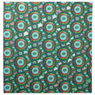 Green circles #3 napkin