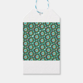 Green circles #3 pack of gift tags