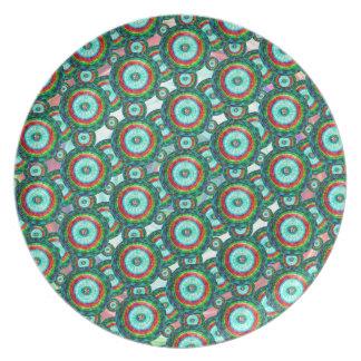 Green circles #3 plate