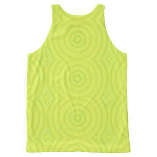 Green circles All-Over-Print tank top