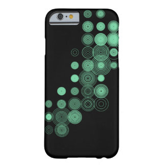 Green Circles on Black iPhone 6 Barely There Case