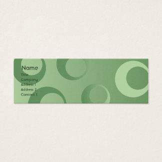 Green Circles - Skinny Mini Business Card