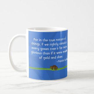 Green Circles Tree mug with quote